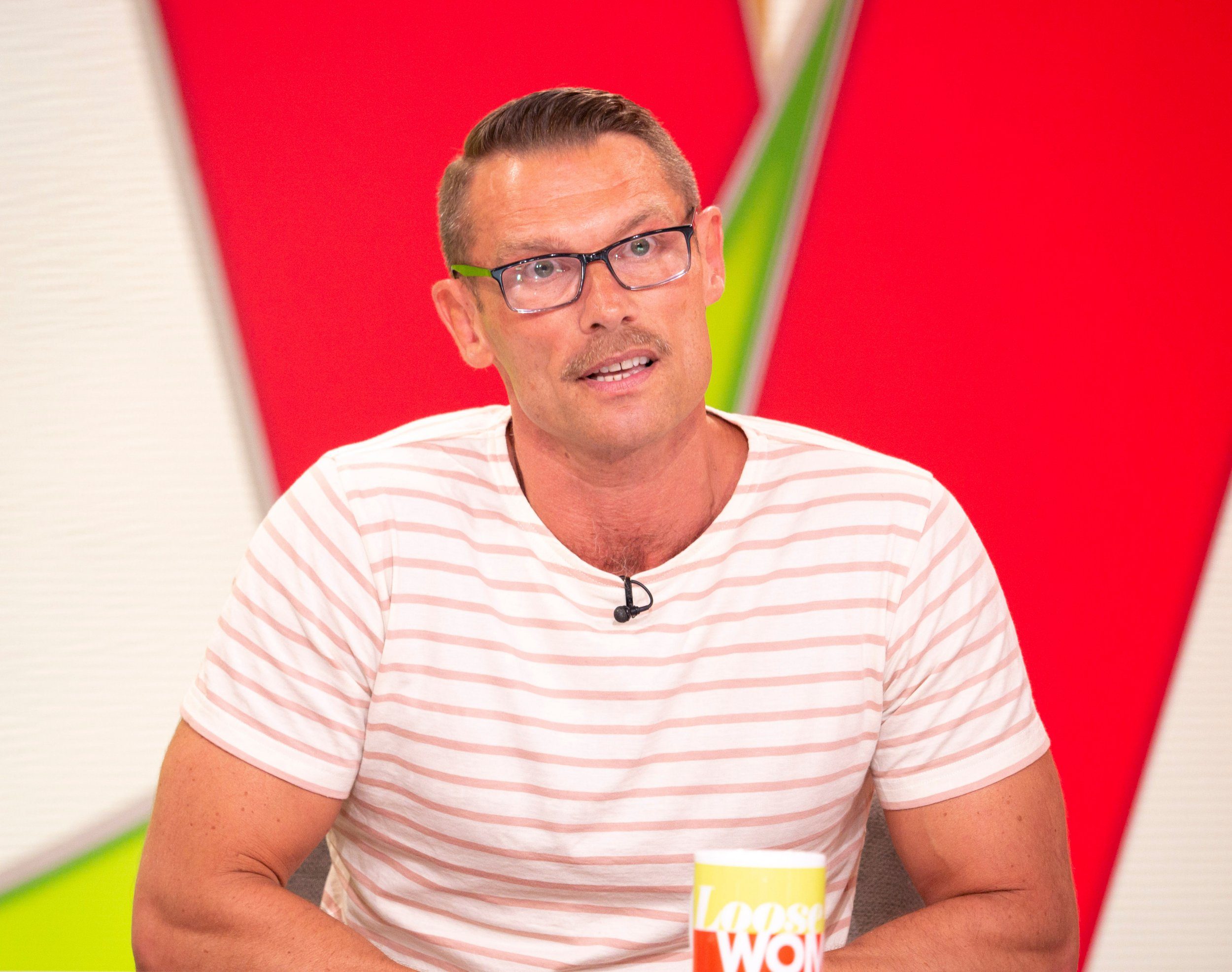 Editorial use only Mandatory Credit: Photo by S Meddle/ITV/REX/Shutterstock (9695874v) John Partridge 'Loose Women' TV show, London, UK - 29 May 2018