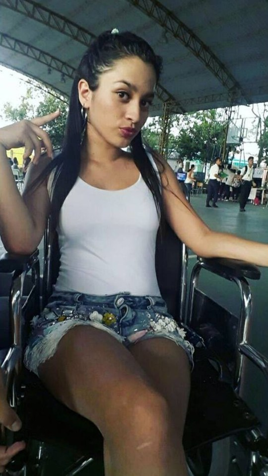 "Pic shows: Luisa Fernanda Buitrago. A pregnant teenager has lost her baby and has been left in a wheelchair after she had a tattoo on her right breast. Luisa Fernanda, 16, from central Colombia's Casanare Department, fell ill after the tattoo became infected. Doctors told her the pretty teenager that she would never walk again after the infection spread into her spinal cord. She underwent surgery to drain off some of the liquid caused by the infection but then developed problems with her appendix. Miss Fernanda said: ""As I had to take a lot of medicine, I had a miscarriage and lost the son I was carrying."" She then needed further treatment to help her deal with depression caused by the loss of her baby. Miss Fernanda has now spoken out about her experiences on social media to warn other youngsters about the dangers of tattoos. She said: ""A year ago I had a tattoo done and it caused the bacteria that affected the spinal cord and stopped me from walking again. ""It was hard when I was told by the surgeons that I would not able to walk again. My mum supported me a lot."" ""And it was hard when I left hospital because I needed help to get in and out of my wheelchair and my mum is not strong enough. ""I was ashamed of being seen outside on the street, because people would point at me, but later I realised it was not good to stay at home all the time."" Miss Fernanda added that surgeons had told her that she needed a further operation as she battles to regain her health. Her friends are helping her try to find the money to cover the cost of her 14-million-COP (3,600-GBP) treatment."
