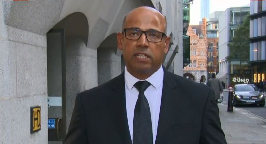 Met police statement on Westminster inquest Picture: Sky News METROGRAB