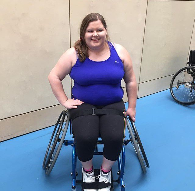 - Picture of Steph Weller before she lost five stone while in a wheelchair TRIANGLE NEWS 0203 176 0089 // contact@trianglenews.co.uk By Kaisha Langton A paraplegic who shed an incredible five stone in just ten months has blasted the ?excuse culture? of able-bodied people who claim they cannot lose weight. Steph Weller managed to fight the flab despite being confined to a wheelchair and not having the use of her legs. She devised a special exercise regime using her upper body after becoming horrified when her weight ballooned to 15 stone. Despite struggling with her mobility she now swims twice a week and goes to the gym three times a week, where she uses the muscles in her body that do work. *Full news copy filed via the wires*