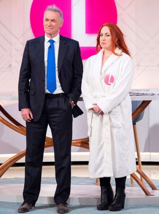 EDITORIAL USE ONLY. NO MERCHANDISING Mandatory Credit: Photo by Ken McKay/ITV/REX (9914071ae) Dr Hilary Jones and Michele (breast cancer awareness item) 'Lorraine' TV show, London, UK - 04 Oct 2018