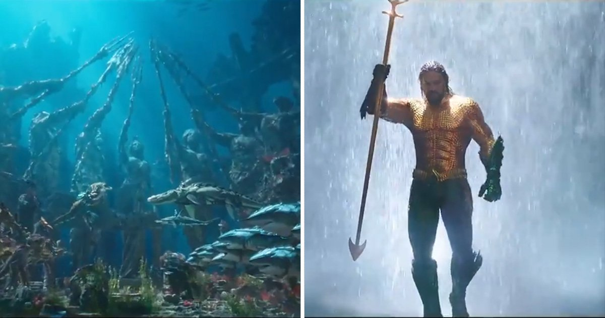 Aquaman fans can't even deal as Jason Momoa wears the classic costume in five-minute trailer