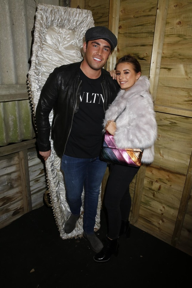 BGUK_1360162 - Crawley, UNITED KINGDOM - Tulleys Farm Shocktober Fest Dani Dyer and Jack Fincham with Georgia Steel and Sam Bird on the tractor ride Pictured: Jack Fincham and Dani Dyer BACKGRID UK 5 OCTOBER 2018 BYLINE MUST READ: Andy Barnes / BACKGRID UK: +44 208 344 2007 / uksales@backgrid.com USA: +1 310 798 9111 / usasales@backgrid.com *UK Clients - Pictures Containing Children Please Pixelate Face Prior To Publication*