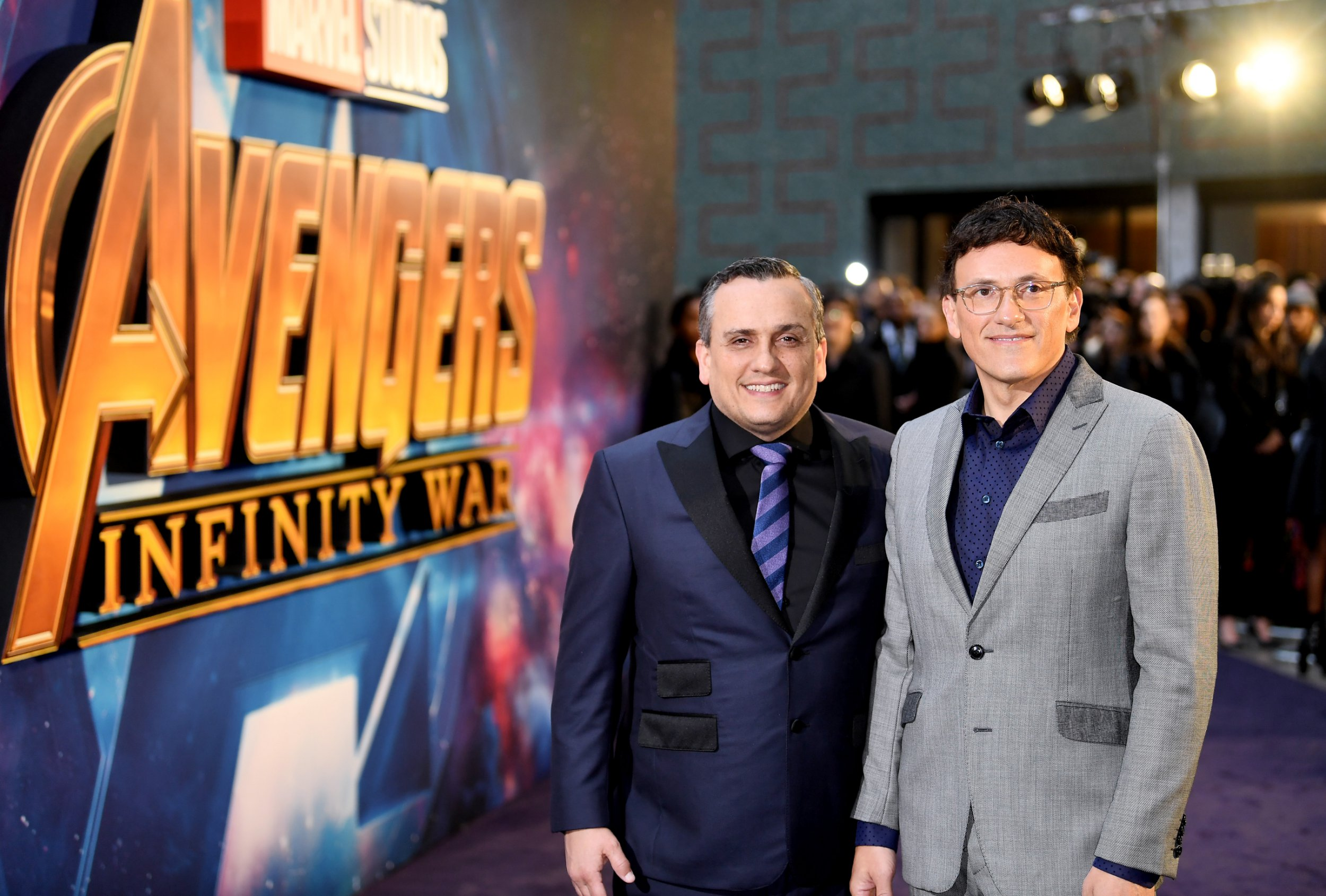 Mandatory Credit: Photo by James Gourley/REX/Shutterstock (9570300al) Anthony Russo and Joe Russo 'Avengers: Infinity War' film fans event, London UK - 08 Apr 2018