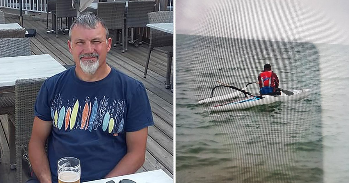 Police hunt kayaker who went missing during race off the coast of Dorset