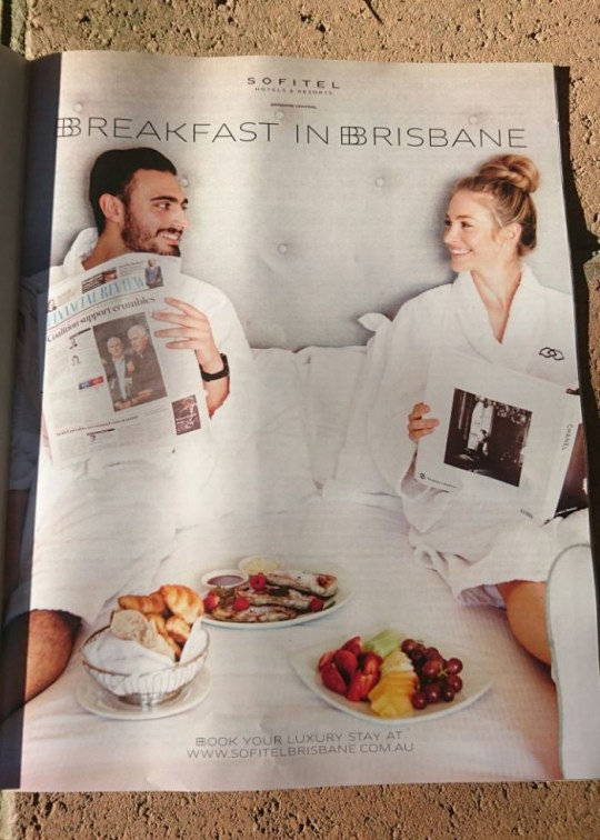 Advert for Brisbane hotel, Sofitel, has received backlash on social media for being sexist.