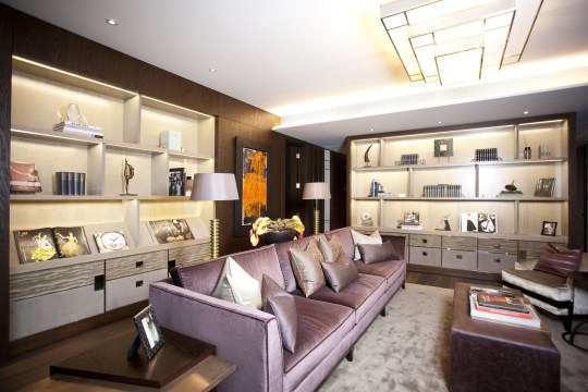 Mandatory Credit: Photo by REX/Shutterstock (1321782p) A reception room of one of the luxury flats in One Hyde Park Luxury apartment complex One Hyde Park built by Christian and Nick Candy, London, Britain - 05 Apr 2011 One Hyde Park has quickly become one of the most desirable - not to mention expensive - addresses on the planet. On average properties in the luxury London development cost ?6,000 per square foot, compared to a city-wide average of ?200 to ?300. The complex was designed by Millennium Dome architect Lord Rogers and is the brainchild of property tycoon brothers Nick and Christian Candy. In total there are 86 apartments, as well as a private cinema, a 21m swimming pool, saunas, a gym, a golf simulator, a wine cellar and a valet and a concierge. The cheapest one-bedroom flat available is believed to cost around ?6.75m, while larger one reportedly go for around ?30m. Even the annual service charge tops ?100,000 a year. The exclusive address is over the road from Harvey Nichols and just a stone's throw from Kensington Palace. It is also next door to the Mandarin Oriental hotel and a special team of 60 employees is on hand to provide room service to those who live at One Hyde Park.