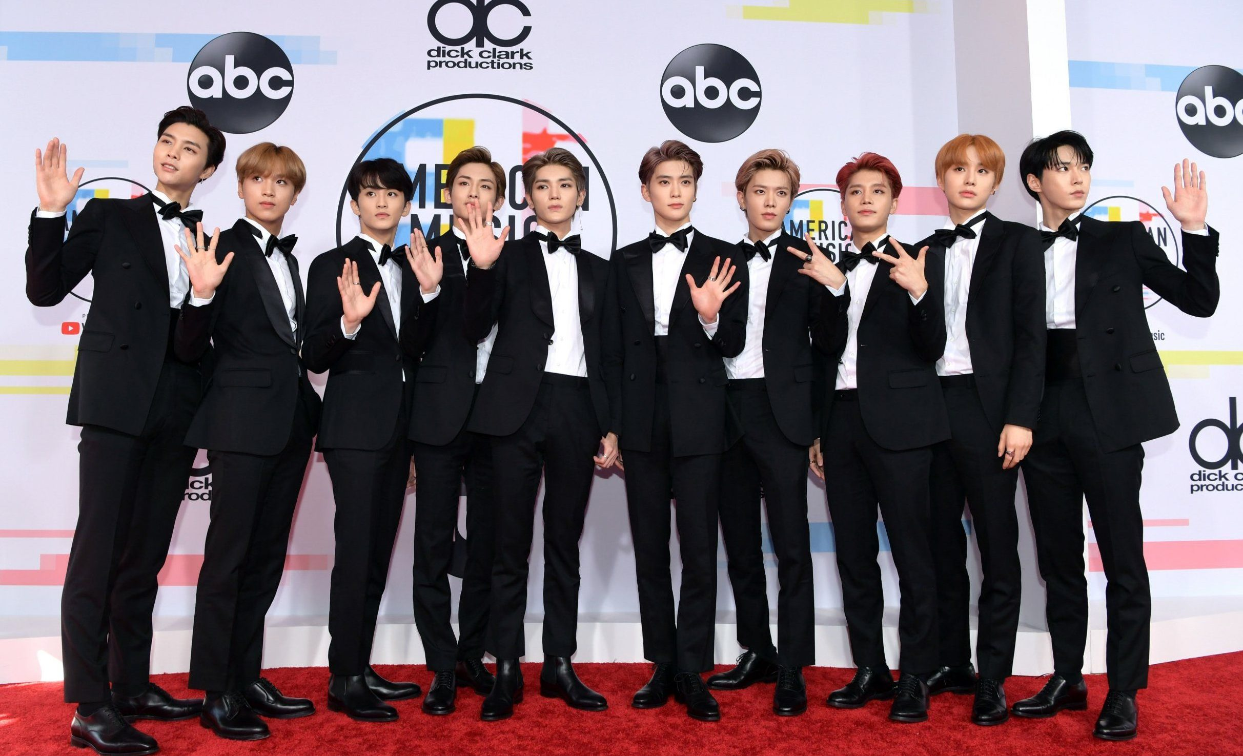 LOS ANGELES, CA - OCTOBER 09: NCT 127 attends the 2018 American Music Awards at Microsoft Theater on October 9, 2018 in Los Angeles, California. (Photo by Emma McIntyre/Getty Images For dcp)