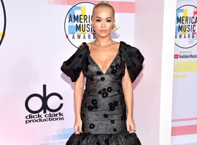 LOS ANGELES, CA - OCTOBER 09: Rita Ora attends the 2018 American Music Awards at Microsoft Theater on October 9, 2018 in Los Angeles, California. (Photo by John Shearer/Getty Images For dcp)