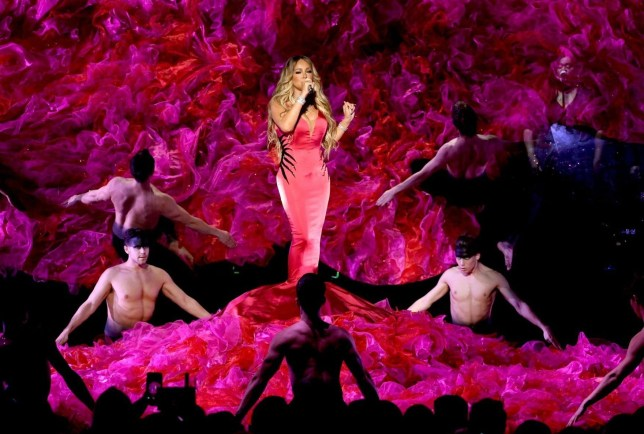 LOS ANGELES, CA - OCTOBER 09: Mariah Carey performs onstage during the 2018 American Music Awards at Microsoft Theater on October 9, 2018 in Los Angeles, California. (Photo by Kevin Winter/Getty Images For dcp)