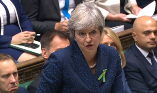 Prime Minister Theresa May speaks during Prime Minister's Questions in the House of Commons, London. PRESS ASSOCIATION Photo. Picture date: Wednesday October 10, 2018. Photo credit should read: PA Wire