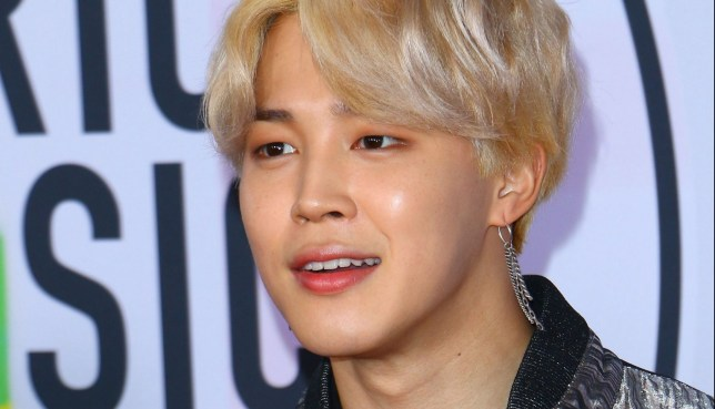 Mandatory Credit: Photo by Capture Pix/REX/Shutterstock (9229244ba) BTS - Jimin American Music Awards, Arrivals, Los Angeles, USA - 19 Nov 2017