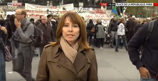 Amazing - Kay Burley for celebrity version of Hunted Credit: Sky News