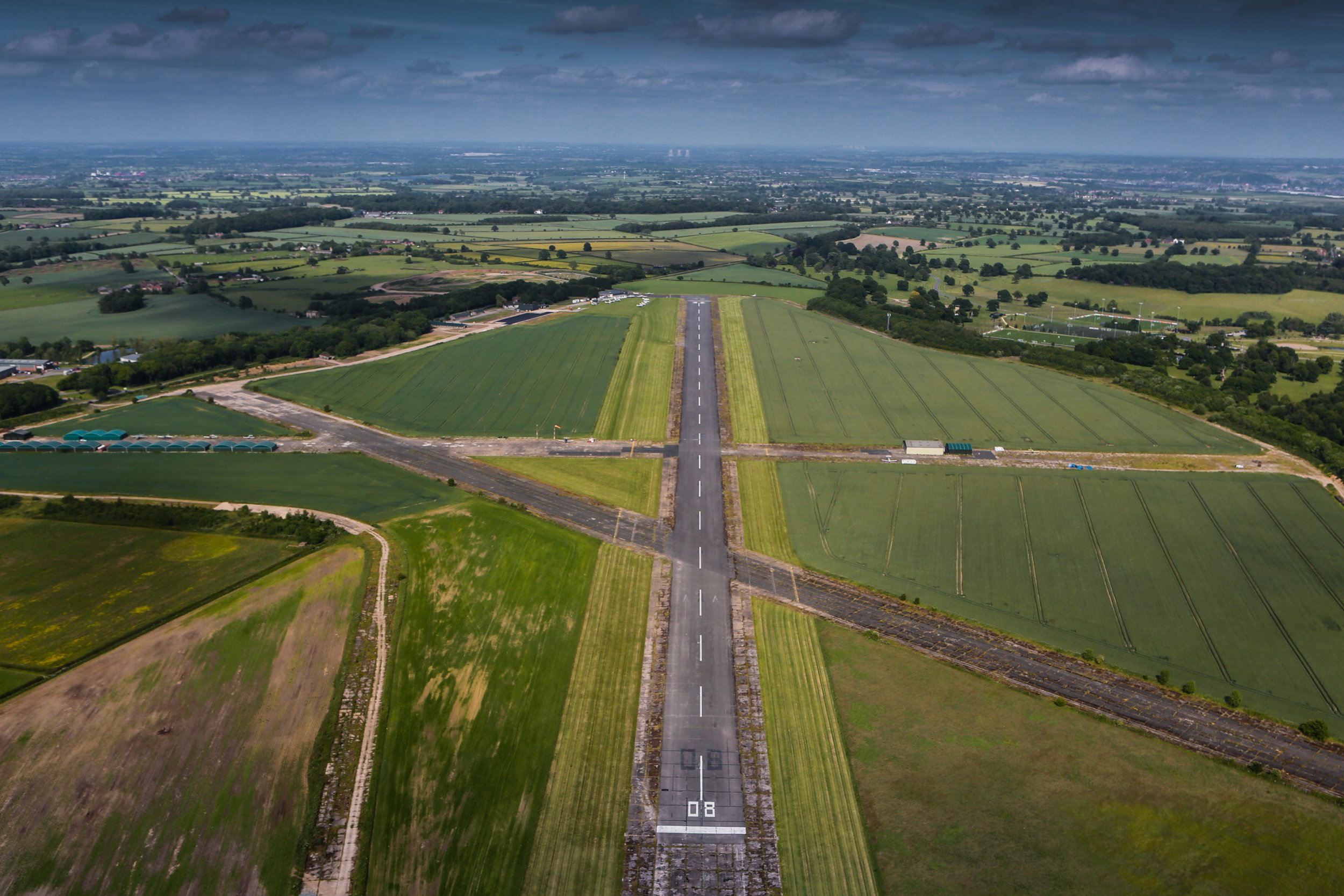 STAFFORDSHIRE, ENGLAND. JUNE 18. An aerial view of Tatenhill Airfield, Staffordshire on June 18, 2015. (Photograph by David Goddard/Getty Images)