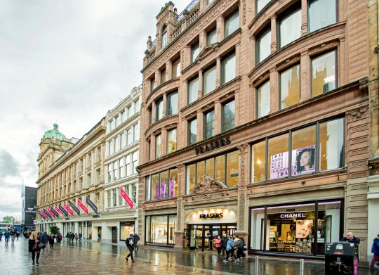"Undated handout photo issued by Keith Bishop Associates of the Frasers store in Glasgow. Sports Direct has vowed to create the ""Harrods of the North"" after clinching a ?95 million deal to buy the building in a move that saves 800 jobs. PRESS ASSOCIATION Photo. Issue date: Friday October 12, 2018. The retailer said it will continue to operate the 350,000sq ft site as Frasers and will invest in the property to ""further elevate and enhance this iconic department store"". See PA story CITY Frasers. Photo credit should read: Colin McLatchie/HoF/CBRE/PA Wire NOTE TO EDITORS: This handout photo may only be used in for editorial reporting purposes for the contemporaneous illustration of events, things or the people in the image or facts mentioned in the caption. Reuse of the picture may require further permission from the copyright holder."