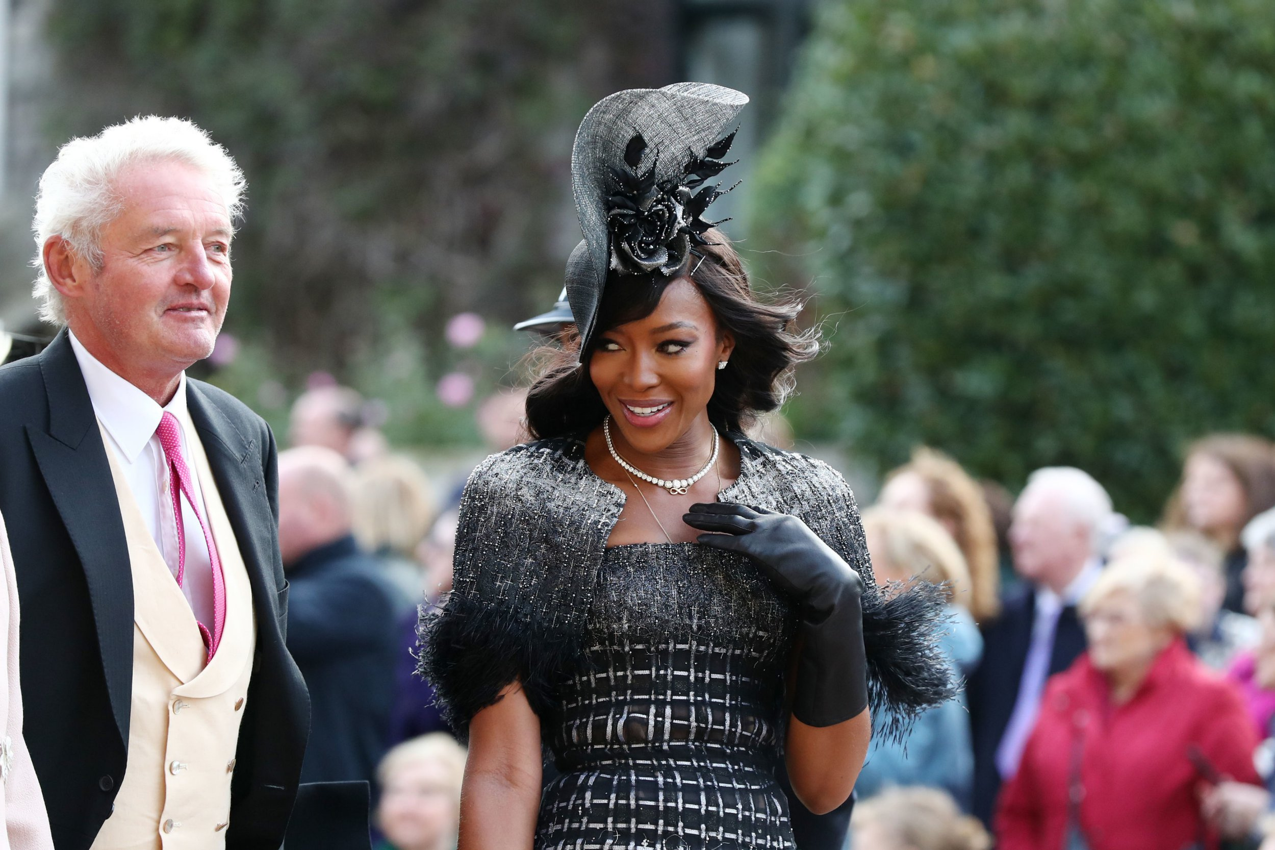 Naomi Campbell arrives ahead of the wedding of Princess Eugenie to Jack Brooksbank at St George's Chapel in Windsor Castle. PRESS ASSOCIATION Photo. Picture date: Friday October 12, 2018. See PA story ROYAL Wedding. Photo credit should read: Gareth Fuller/PA Wire