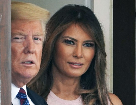 "(FILES) In this file photo taken on August 27, 2018, US President Donald Trump and First Lady Melania Trump outside of the West Wing of the White House in Washington,DC. - Melania Trump on October 12, 2018, dismissed the widespread talk about her husband alleged affairs with a porn star and others, saying she has ""more important things to think about."" In an interview with ABC News, excerpts of which were broadcast early Friday, the US first lady did not deny her husband's alleged history of philandering. (Photo by MANDEL NGAN / AFP)MANDEL NGAN/AFP/Getty Images"