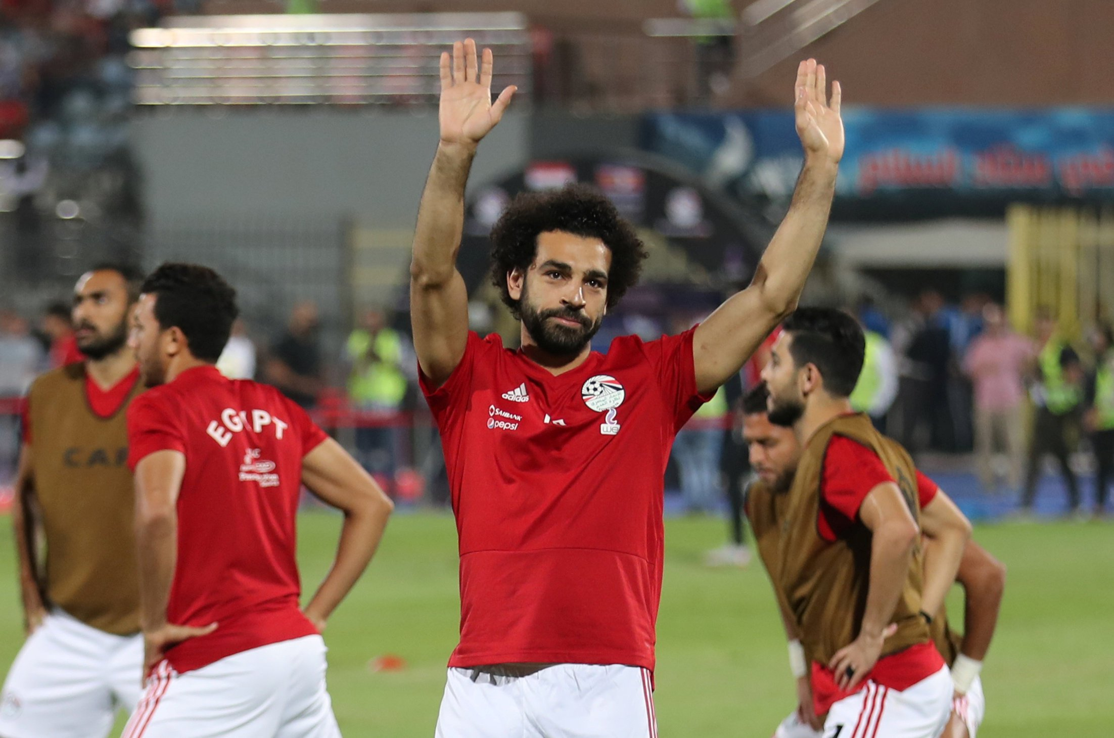 Soccer Football - African Nations Cup Qualifier - Egypt v Swaziland - Al-Salam Stadium, Cairo, Egypt - October 12, 2018 Egypt's Mohamed Salah during the warm up before the match REUTERS/Mohamed Abd El Ghany