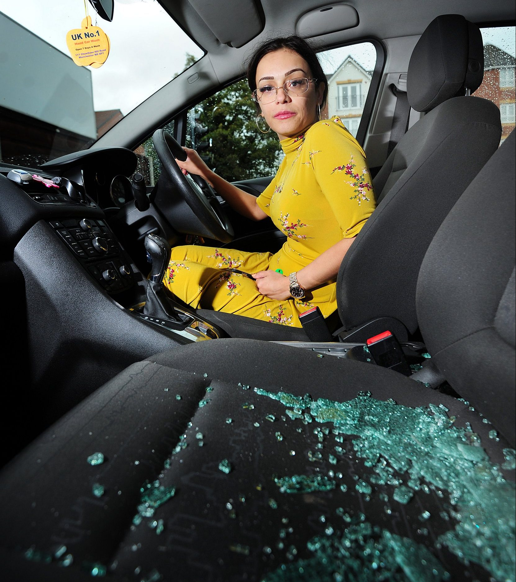 Claudia Iorga had her car window smashed and knife held to her throat as she waited at traffic lights in Cheetham Hill, Manchester 12 October 2018 Credit: MEN Media