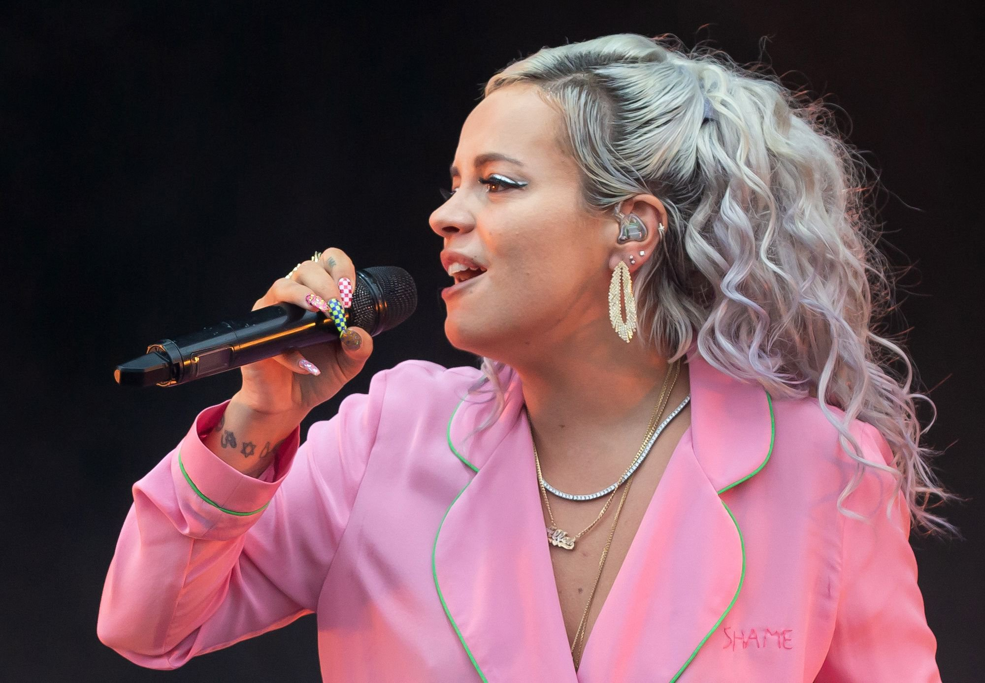 English singer-songwriter Lily Allen performs during weekend two of the ACL Music Festival at Zilker Park in Austin on October 12, 2018. (Photo by SUZANNE CORDEIRO / AFP)SUZANNE CORDEIRO/AFP/Getty Images