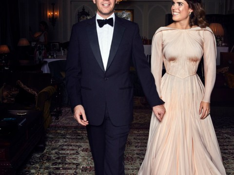 Princess Eugenie's evening reception dress was possibly even more gorgeous than her wedding dress
