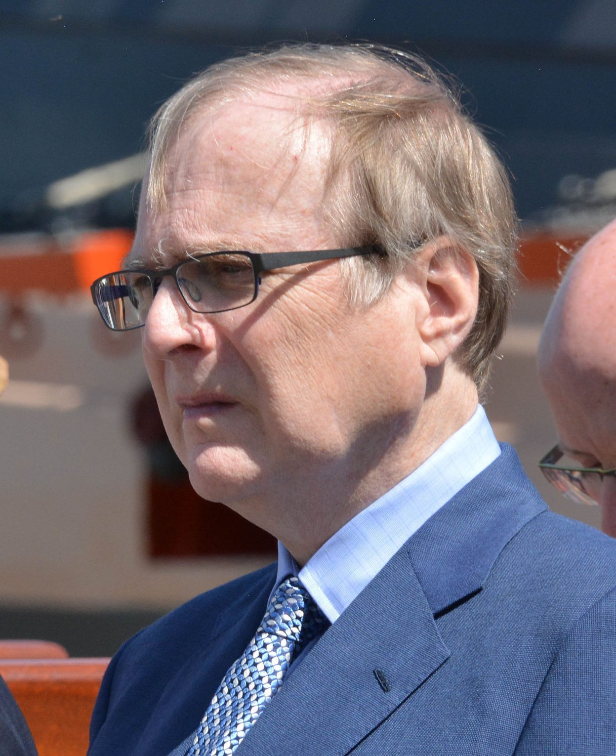File photo dated 24/05/16 of Microsoft co-founder Paul Allen attending the unveiling of the bell from HMS Hood at Portsmouth Historic Dockyard, to mark the 75th anniversary of the Royal Navy's largest loss of life from a single vessel. Mr Allen has died aged 65. PRESS ASSOCIATION Photo. Issue date: Monday October 15, 2018. See PA story US Allen. Photo credit should read: Ben Mitchell/PA Wire