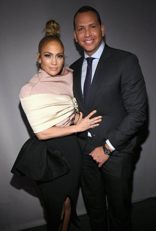 LOS ANGELES, CA - OCTOBER 15: Jennifer Lopez (L) and Alex Rodriguez attend ELLE's 25th Annual Women In Hollywood Celebration presented by L'Oreal Paris, Hearts On Fire and CALVIN KLEIN at Four Seasons Hotel Los Angeles at Beverly Hills on October 15, 2018 in Los Angeles, California. (Photo by Kevin Mazur/Getty Images for ELLE Magazine)
