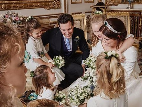 Charlotte steals the show in adorable unseen wedding photo with Eugenie