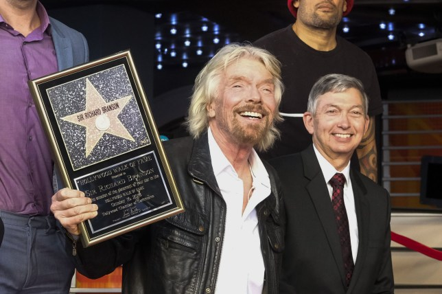 Mandatory Credit: Photo by Ringo Chiu/ZUMA Wire/REX (9934506t) Sir Richard Branson attends his star ceremony where he was the recipient of the 2,647th star on the Hollywood Walk of Fame in the category of Recording Richard Branson honored with a star on the Hollywood Walk of Fame, Los Angeles, USA - 16 Oct 2018