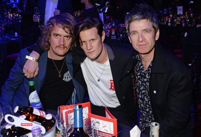 LONDON, ENGLAND - OCTOBER 17: (L to R) Nick Kingsnorth, Matt Smith and Noel Gallagher attend the Q Awards 2018 at The Roundhouse on October 17, 2018 in London, England. (Photo by David M. Benett/Dave Benett/Getty Images)
