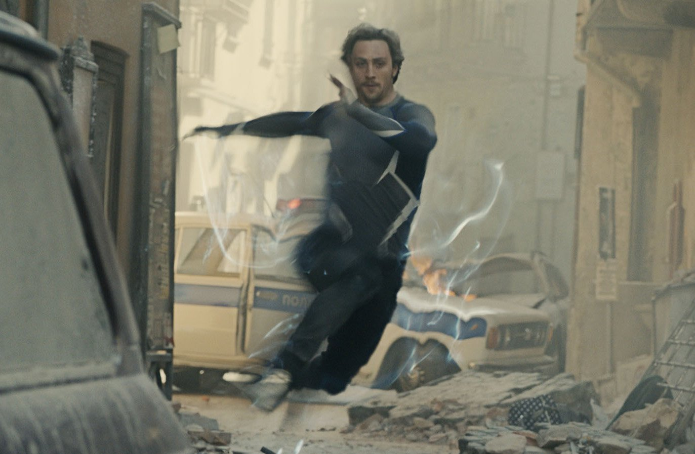 Editorial use only. No book cover usage. Mandatory Credit: Photo by Marvel/Walt Disney Pictures/Kobal/REX/Shutterstock (5886283ci) Aaron Taylor-Johnson Avengers - Age Of Ultron - 2015 Director: Joss Whedon Marvel/Walt Disney Pictures USA Scene Still Action/Adventure Avengers: L'??re d'Ultron