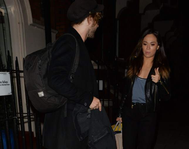 MAYFAIR, UNITED KINGDOM - OCTOBER 18: Seann Walsh and Katya Jones seen leaving a dance studio on October 17, 2018 in Mayfair, London. PHOTOGRAPH BY Eagle Lee / Barcroft Images