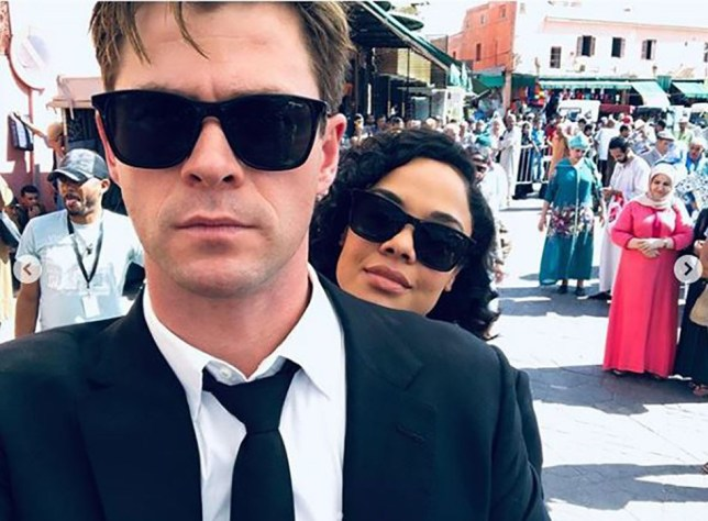 METRO GRAB INSTAGRAM Chris Hemsworth posts Instagram snaps of final Men in Black filming scenes as he and Tessa Thompson wrap filming