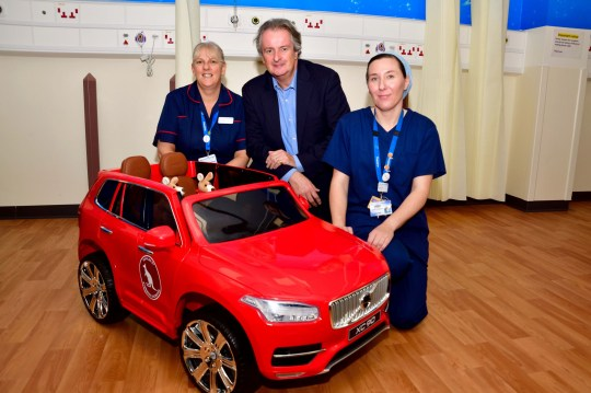 Children S Ward Has Tiny Electric Cars For Sick Kids To Drive Down