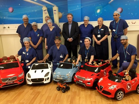 Children's ward now has tiny electric cars for sick kids to drive down to surgery