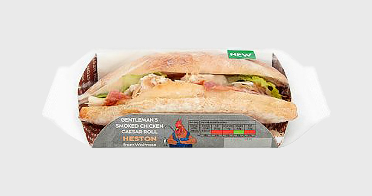 Sexist sandwich picture: Waitrose METROGRAB REF: https://www.waitrose.com/ecom/products/hestons-gentlemans-smoked-chicken-caesar-roll/446040-671662-671663
