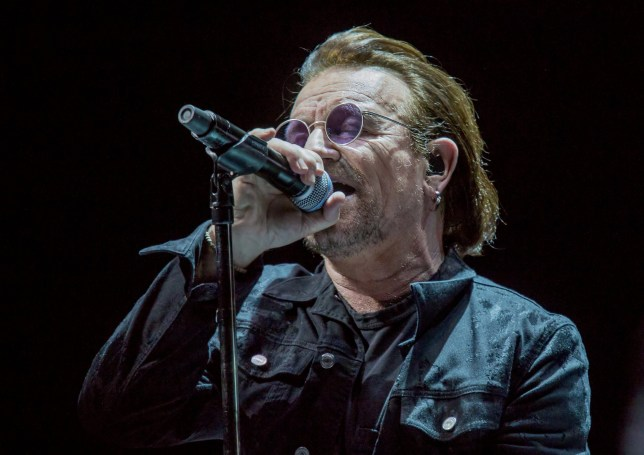 U2 Performing On Their 'Experience + Innocence' Tour at Manchester Arena Featuring: U2, Bono Where: Manchester, United Kingdom When: 19 Oct 2018 Credit: Sakura/WENN.com