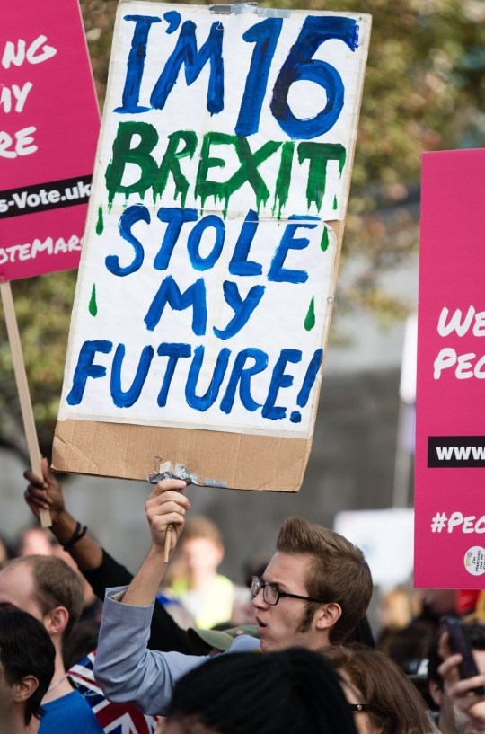 Mandatory Credit: Photo by Richard Isaac/REX/Shutterstock (9938833m) Around 100,000 demonstrators march through London during a People's Vote anti-brexit demonstration Anti-Brexit People's Vote March for the Future in London, UK - 20 Oct 2018