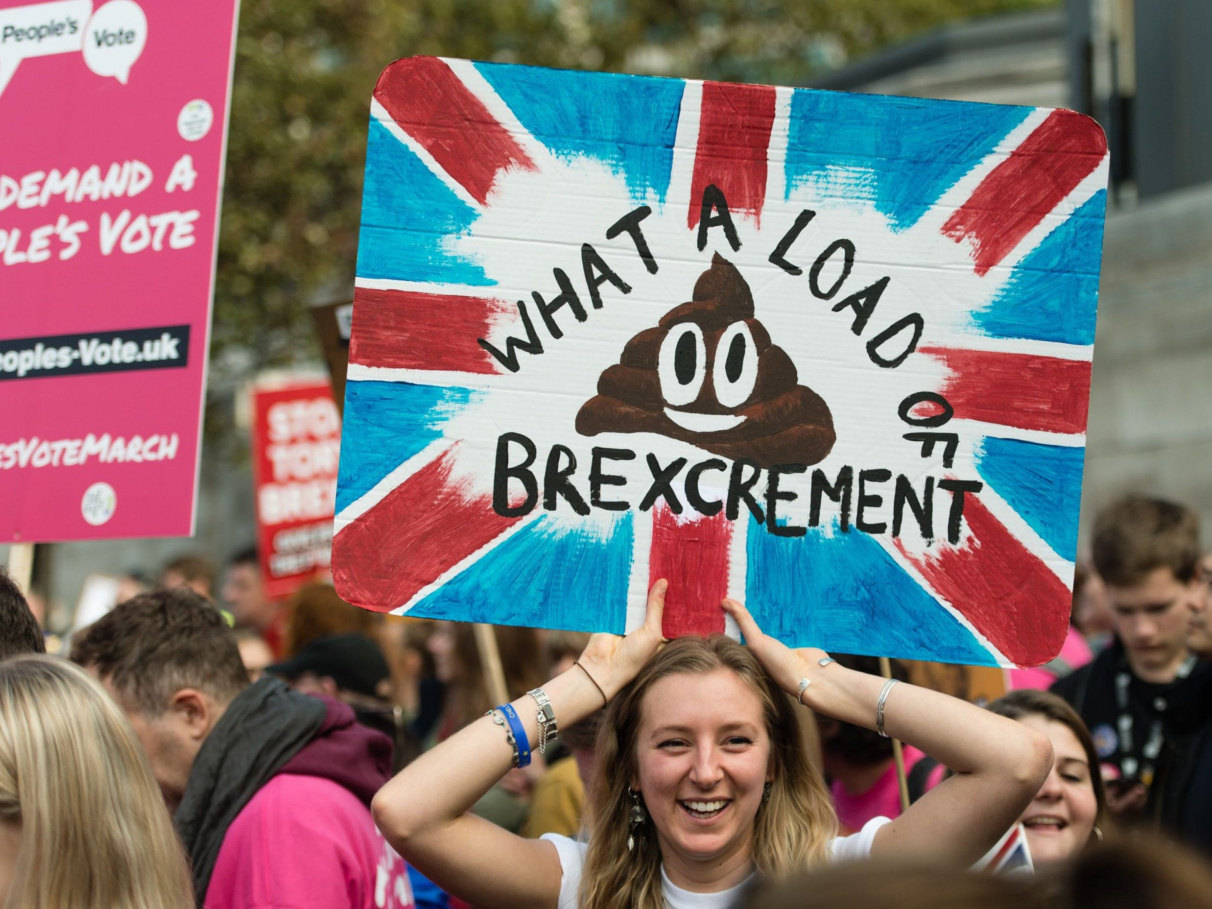 Mandatory Credit: Photo by Richard Isaac/REX (9938833n) Around 100,000 demonstrators march through London during a People's Vote anti-brexit demonstration Anti-Brexit People's Vote March for the Future in London, UK - 20 Oct 2018