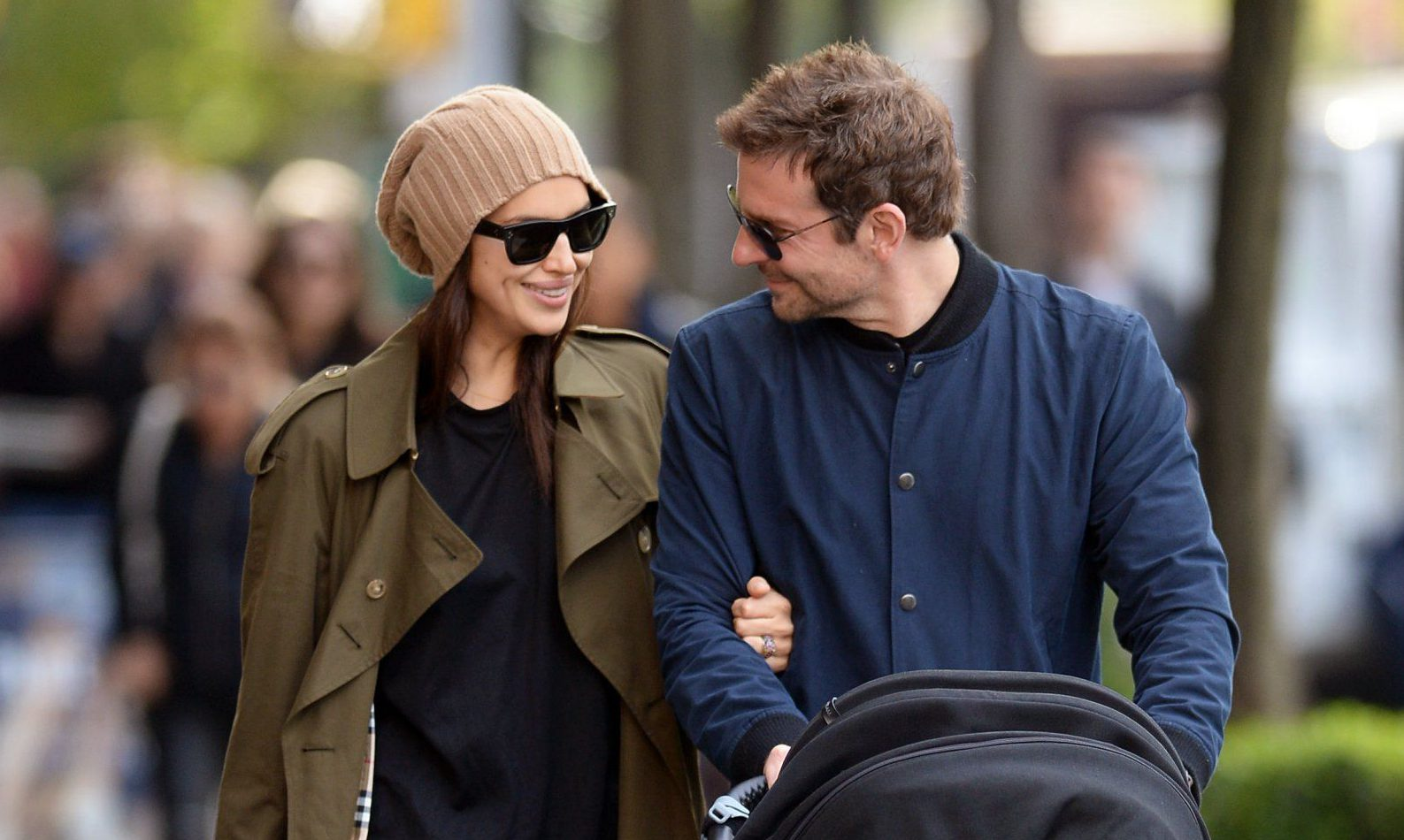 Bradley Cooper and Irina Shayk look completely smitten with daughter Lea on family stroll