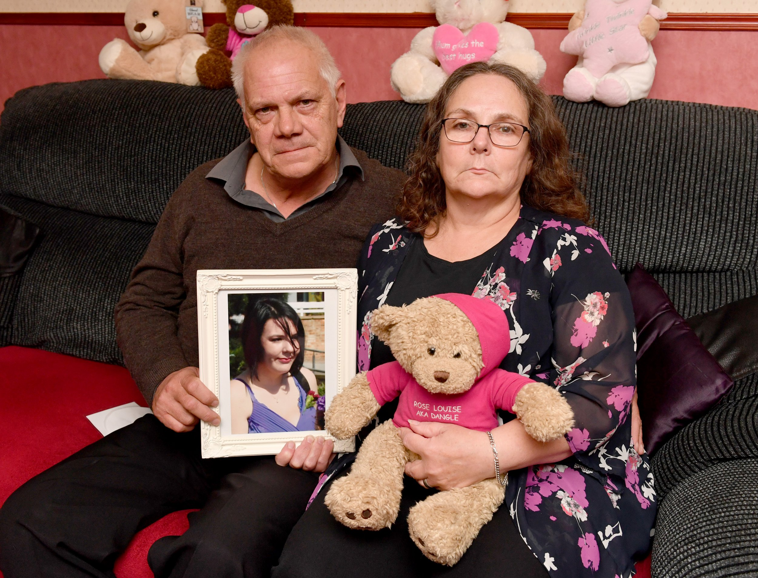 **Embargoed until 1pm on 21/10/18. Online Usage fee ?75 per photo. Print fee ?150 per photo** Susan and Kevin Blunnie whose daughter Eystna was murdered by her ex boyfriend Tony McLernon in June 2012 two days before she was due to give birth