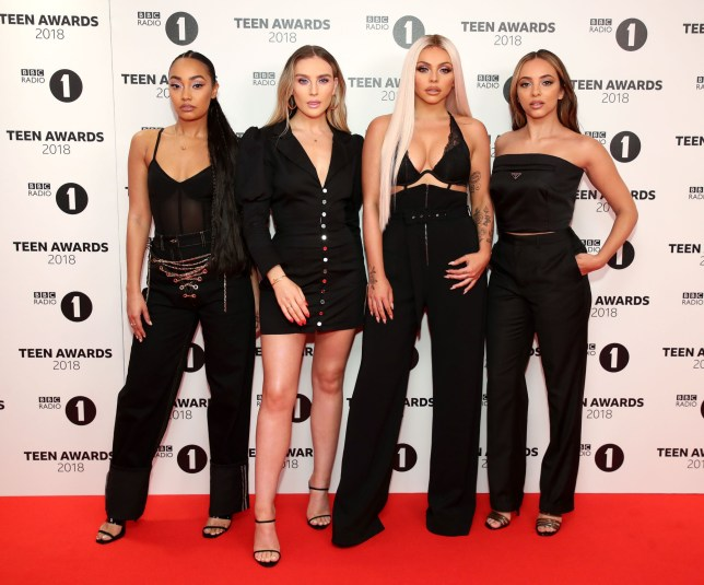LONDON, ENGLAND - OCTOBER 21: Leigh-Anne Pinnock, Perrie Edwards, Jesy Nelson and Jade Thirlwall of the band Little Mix attend the BBC Radio 1 Teen Awards on October 21, 2018 in London, United Kingdom. (Photo by Mike Marsland/Mike Marsland/WireImage)