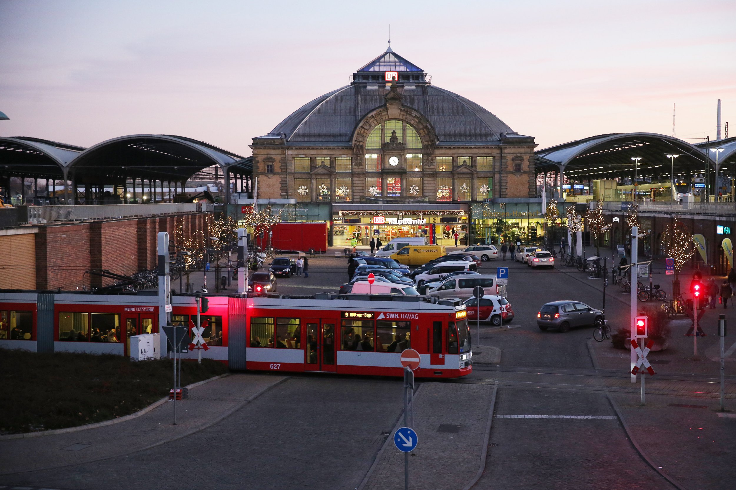 Teenager, 19, found in pool of blood after blowing up ticket machine at German train station