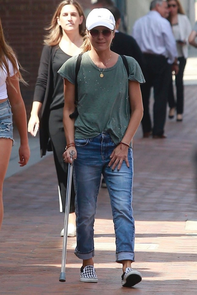 Selma Blair seen walking with cane after bravely revealing