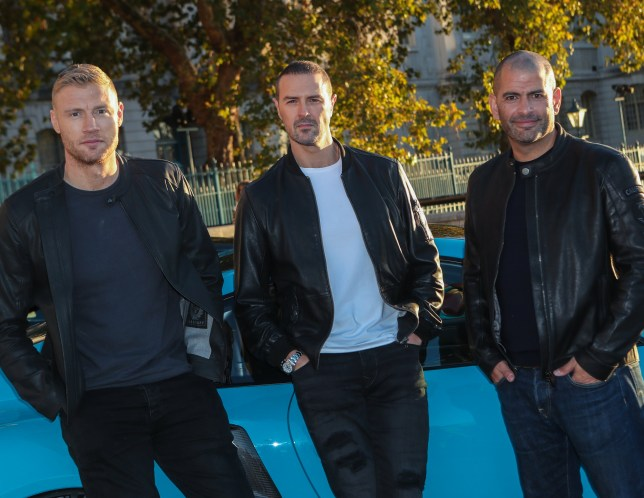 """The BBC announce Andrew """"Freddie"""" Flintoff, Paddy McGuiness and Chris Harris as the new presenting team for the upcoming series of Top Gear. Featuring: Andrew """"Freddie"""" Flintoff, Paddy McGuiness, Chris Harris Where: London, United Kingdom When: 22 Oct 2018 Credit: John Rainford/WENN"""