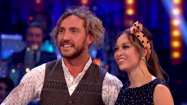 Seann Walsh and Katya Jones perform for the judges on 'Strictly Come Dancing'. Broadcast on BBC One Featuring: Seann Walsh, Katya Jones When: 20 Oct 2018 Credit: Supplied by WENN **WENN does not claim any ownership including but not limited to Copyright, License in attached material. Fees charged by WENN are for WENN's services only, do not, nor are they intended to, convey to the user any ownership of Copyright, License in material. By publishing this material you expressly agree to indemnify, to hold WENN, its directors, shareholders, employees harmless from any loss, claims, damages, demands, expenses (including legal fees), any causes of action, allegation against WENN arising out of, connected in any way with publication of the material.**