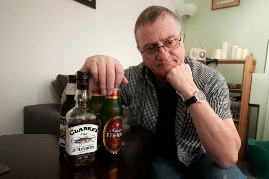 Aldi refused to sell alcohol to a man in his sixties - because he was shopping with his 26 year old daughter. Ken Deeks, 66, had hoped to buy a bottle of whiskey and packs of lager and bitter with his weekly shop at the Didsbury branch on Thursday. caption: 66-year-old Ken Deeks was refused alcohol at Didsbury Aldi because he was with his 26-year-old daughter
