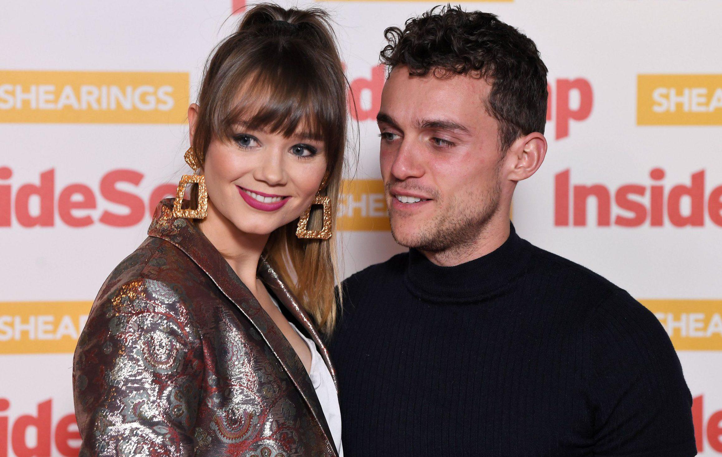 Mandatory Credit: Photo by James Gourley/REX (9939971ee) Daisy Wood-Davis and Luke Jerdy Inside Soap Awards, London, UK - 22 Oct 2018