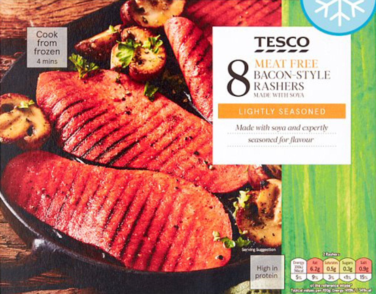 Tesco veggie bacon contains more salt than you find in seawater Tesco