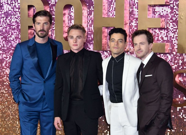 Mandatory Credit: Photo by Nils Jorgensen/REX (9942520dj) Gwilym Lee, Allen Leech, Rami Malek, Joseph Mazzello 'Bohemian Rhapsody' film premiere, London, UK - 23 Oct 2018 Anticipated premiere of Freddie Mercury biopic, starring Rami Malek as the late Queen singer, at SSE Arena Wembley, London